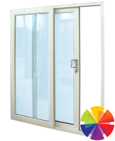 Colour options for the doublt uPVC sliding patio doors