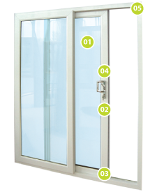 Image showing specification of the doors uPVC sliding patio doors