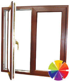Colour options for the casement windows